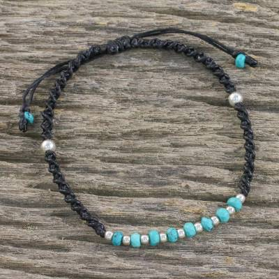 Beaded sterling silver bracelet, Split Soul