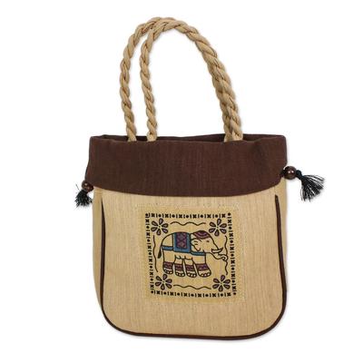 Handmade 100% Cotton Elephant Handbag from Thailand