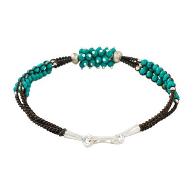 Calcite Beaded Pendant Bracelet from Thailand