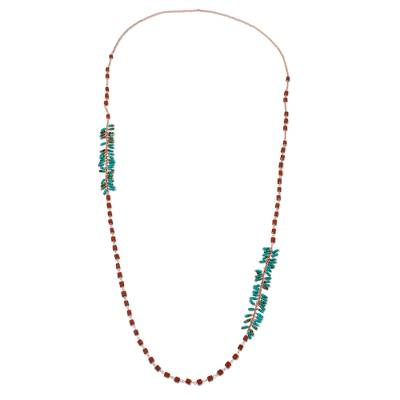 Jasper and Recon Turquoise Necklace from Thailand