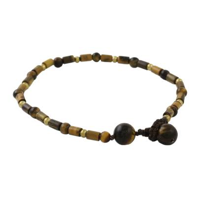 Tigers eye beaded bracelet, Earth Day