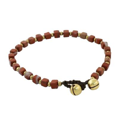 Jasper beaded bracelet, Brilliant Day