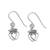 Sterling silver dangle earrings, 'Crowned Hearts' - Thai Sterling Silver Dangle Earrings with Crowns and Hearts (image 2c) thumbail