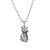Sterling silver pendant necklace, 'Fortunate Feline' - Sterling Silver Cat Pendant Necklace from Thailand (image 2a) thumbail