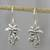 Sterling silver dangle earrings, 'Paradise Palms' - Sterling Silver Twin Palm Dangle Earrings from Thailand thumbail