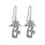 Sterling silver dangle earrings, 'Paradise Palms' - Sterling Silver Twin Palm Dangle Earrings from Thailand (image 2a) thumbail