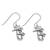 Sterling silver dangle earrings, 'Paradise Palms' - Sterling Silver Twin Palm Dangle Earrings from Thailand (image 2c) thumbail