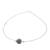 Jade pendant necklace, 'Trajectory' - Minimalist Jade Pendant Necklace on Stainless Steel (image 2a) thumbail