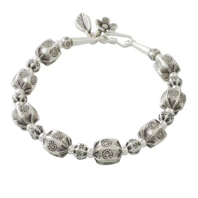 Artisan Crafted 950 Silver Beaded Bracelet from Thailand