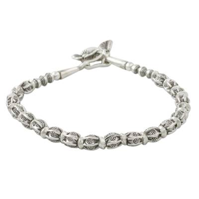 Beaded 950 and 925 Silver Hill Tribe Style Bracelet