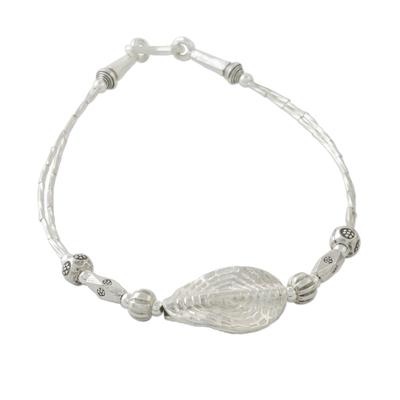 Karen Hill Tribe Silver Pendant Bracelet from Thailand