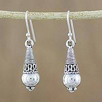 Sterling silver dangle earrings, 'Orbs of Opulence' - Sterling Silver Dangle Earrings from Thailand