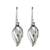 Sterling silver dangle earrings, 'Elegant Touch' - Shining Sterling Silver Dangle Earrings from Thailand (image 2a) thumbail