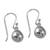 Sterling silver dangle earrings, 'Reflective Drops' - High-Polish Sterling Silver Dangle Earrings from Thailand (image 2c) thumbail