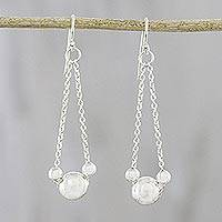 Sterling silver dangle earrings, 'Precious Bubbles' (Thailand)