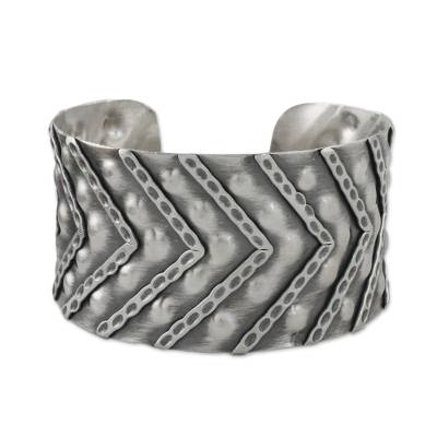 Handmade Sterling Silver Cuff Bracelet from Thailand