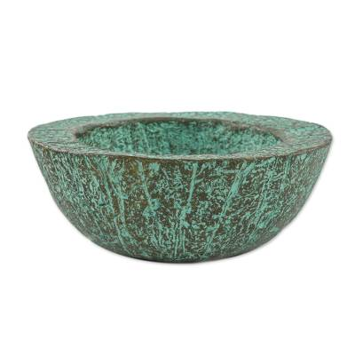 Green Recycled Paper Decorative Bowl from Thailand
