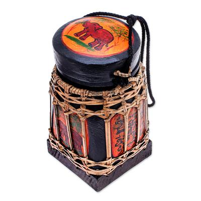 Handmade Ceramic Decorative Jar from Thailand