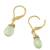 Gold plated prehnite dangle earrings, 'Grand Treasure' - Handmade 18k Gold Plated Prehnite Dangle Earrings (image 2d) thumbail