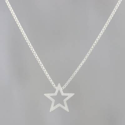 Sterling silver pendant necklace, Glitzy Star