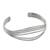 Sterling silver cuff bracelet, 'Beautiful Melody' - Sterling Silver Wire Narrow Cuff Bracelet from Thailand (image 2c) thumbail