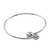 Sterling silver bangle bracelet, 'Silver Friends' - Sterling Silver Bangle Bracelet (image 2a) thumbail