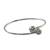 Sterling silver bangle bracelet, 'Silver Friends' - Sterling Silver Bangle Bracelet (image 2c) thumbail