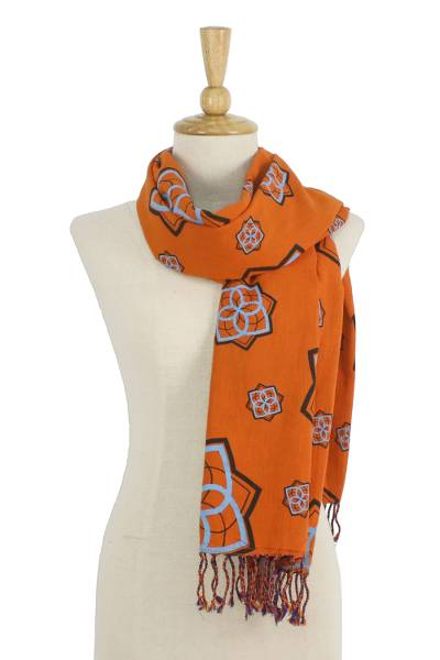 Cotton scarf, Radiant Bloom