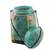 Bamboo and clay decorative jar, 'Tropical Plant in Green' - Decorative Jar in Green from Thailand (image 2c) thumbail