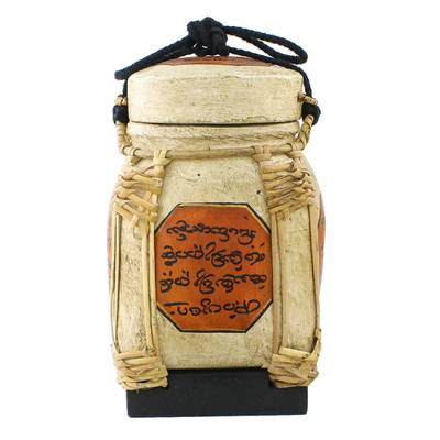 Handcrafted Cultural Decorative Jar from Thailand