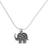 Sterling silver pendant necklace, 'Parade of Elephants' - Handmade 925 Sterling Silver Elephants Pendant Necklace (image 2a) thumbail