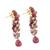 Gold plated multi-gemstone dangle earrings, 'Glittering Passion' - Multi-Gemstone Cluster Dangle Earrings from Thailand (image 2c) thumbail