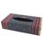 Cotton tissue box cover, 'Hill Tribe Dream' - Cotton Tissue Box Cover in Red Yellow and Charcoal Grey (image 2a) thumbail