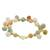 Gold plated jade and quartz link bracelet, 'Sweet Jade' - 18K Gold Plated Jade Quartz Link Bracelet with Hook Clasp (image 2a) thumbail