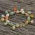 Gold plated jade and quartz link bracelet, 'Sweet Jade' - 18K Gold Plated Jade Quartz Link Bracelet with Hook Clasp (image 2b) thumbail