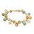 Gold plated jade and quartz link bracelet, 'Sweet Jade' - 18K Gold Plated Jade Quartz Link Bracelet with Hook Clasp (image 2c) thumbail