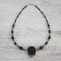 Multi-gemstone beaded necklace, 'Twilight Serenity' - Multi-Gemstone Beaded Necklace Handmade in Thailand
