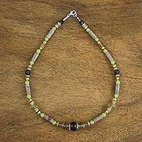 Multi-gemstone beaded necklace, 'Unity of Nature' - Multi-Gemstone Beaded Necklace Handmade in Thailand