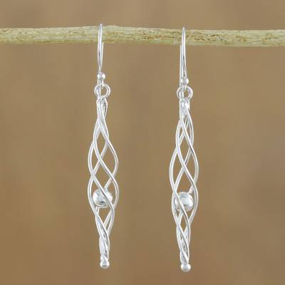 Sterling silver dangle earrings, Icicle Dreams