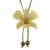 Natural flower lariat necklace, 'Exotic Cream Bloom' - Handmade Natural Orchid Flower Long Lariat Necklace (image 2a) thumbail