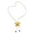 Natural flower lariat necklace, 'Exotic Cream Bloom' - Handmade Natural Orchid Flower Long Lariat Necklace (image 2c) thumbail