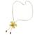 Natural flower lariat necklace, 'Exotic Cream Bloom' - Handmade Natural Orchid Flower Long Lariat Necklace (image 2d) thumbail