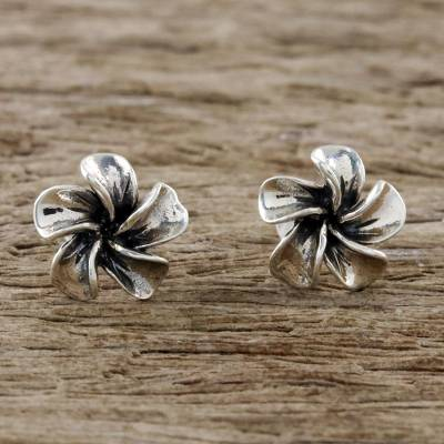 Sterling silver stud earrings, Ethereal Essence
