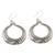Silver dangle earrings, 'Floral Karen Rings' - Floral Karen Silver Dangle Earrings from Thailand (image 2c) thumbail