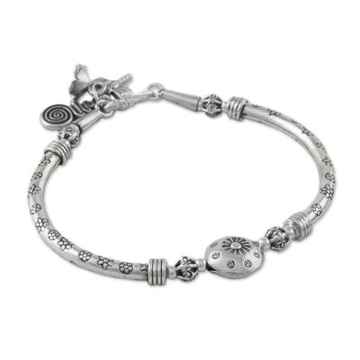 Artisan Crafted Karen Silver Beaded Bracelet from Thailand