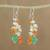Multi-gemstone cluster earrings, 'Vivacious Color' - Multi-Gemstone Cluster Sterling Silver Dangle Earrings thumbail