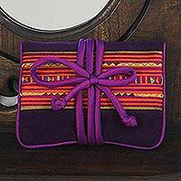 Rayon and cotton blend jewelry roll, 'Precious Lisu' - Lisu Hill Tribe Rayon Blend Applique Jewelry Roll
