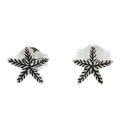 Sterling Silver Starfish Stud Earrings from Thailand