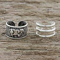 Featured review for Sterling silver ear cuffs, Elephant Path