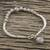 Silver beaded bracelet, 'Lotus Hill Tribe' - Floral Karen Silver Beaded Bracelet from Thailand thumbail